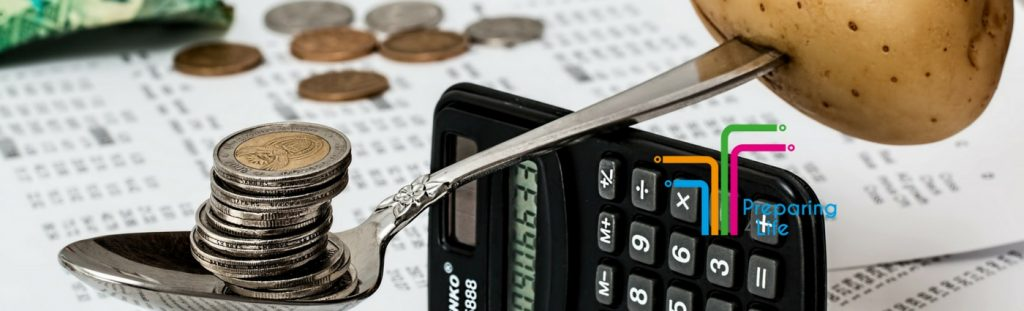 Budgeting with calculator